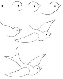How To Draw A Bird - How To Draw A Bird